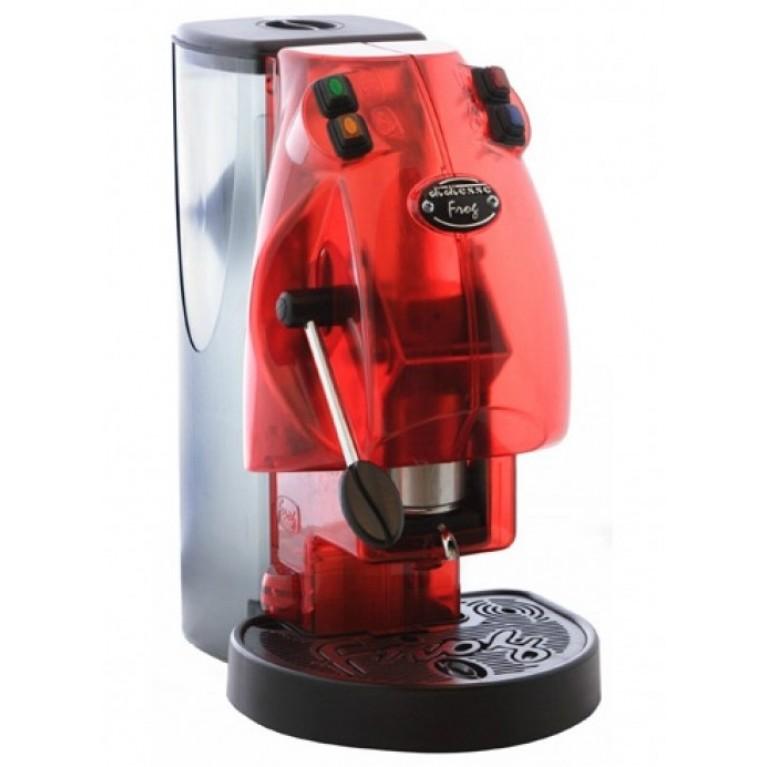 Macchina caffe' frog a cialde carta rosso trasparente